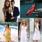 Hot Long Bridesmaid Party Dresses V-neck Formal Evening Party Prom Gown 08110