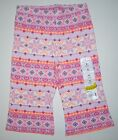 JUMPING BEANS Girl's Pants Size 9 months FAIR ISLE Print Pink NEW