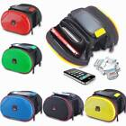 Waterproof Pannier Bike Bicycle Accessory Front Tube Bag with Cover Phone Holder