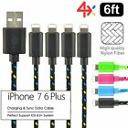 Внешний вид - 4x 6ft long USB Charging Cable For Apple iPhone 6s Plus 6 7 Data Sync Charger