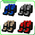 Multi-Color Universal 9Pieces Lowback Flat Cloth Full Set Auto Car Seat Covers $32.14 CAD on eBay