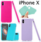 for Apple iPhone X - Hard Flexible TPU Rubber Gummy Jelly Slim Fit Case Cover