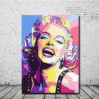 modern canvas painting - Marilyn Monroe Oil Painting Canvas Print Wall Art Picture Modern Bedroom Decor