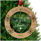 First Christmas as Married Couple Mr Mrs SURNAME PERSONALISED Decoration Xmas