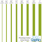 """Pinstripes (LIME GREEN) 1/8"""" 1/4"""" 3/8"""" 1/2"""" 5/8"""" 3/4"""" 7/8"""" 1"""" inch widths"""