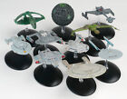 Eaglemoss Star Trek Starships - Enterprise, Klingon Bird of Prey, Excelsior