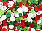Christmas Small Mixed Buttons for Scrapbooking, Card Making, Crafts, Decorations