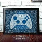 PERSONALISED X BOX XBOX GAME BIRTHDAY CHRISTMAS GIFT DAD DADDY FATHER WORD ART