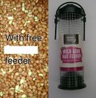 WILD BIRD FOOD PEANUTS 500 Gram to 4.5 Kg PLUS FREE  FEEDER