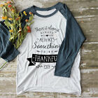 There Is Always Something To Be Thankful For Women's Baseball 3/4 Sleeve Top