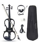 4/4 Electric Violin Full Size Basswood with Connecting Line Earphone & Case for