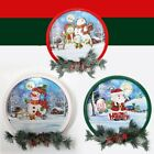 Christmas Party Home Decoration Snow Music Wreath Ornament Toys For Kids Childre