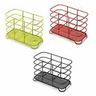 ADDIS Deluxe Steel 3 Compartment Wire Cutlery Stand/Holder & Drainer High Gloss