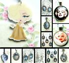 MARILYN MONROE AUDREY HEPBURN EARRINGS OR CLIP ON CHARM OR NECKLACE OR KEYRING