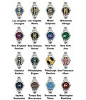 Pro Football Superbowl Variety Team Logo Ladies Italian Charm Wrist Watch Set 2 $16.99 USD on eBay