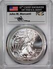 2015 $1 (P) Silver Eagle PCGS MS69 Struck at Philadelphia 1 of 79,640 Mercanti <br/> Extremely Limited!! ONLY 79,640 Struck at Philadelphia!