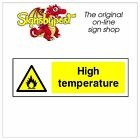 High temperature sticker HSE Health Safety FOO54 10cm x 30cm
