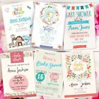 Personalised Baby Shower Invitations - Various Designs, Professionally made
