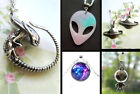 SPACE ALIEN FILM SCI-FI PLANET SATURN STAR NECKLACE EARRINGS XENOMORPH