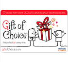 Gift of Choice Gift Card - $25, $50 $75 or $100  Fast Email delivery