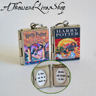 JK Rowling's Wizard Series Custom Book Locket Charm Keychain or Pendant Necklace