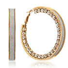 VALENTINE Gifts Party Charm Crystals Big Round Hoop New Earrings MK149US1