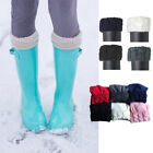 Winter Warm knit Cuff Long Socks quote For Tall Rain Boots Liners Socks 7 colors
