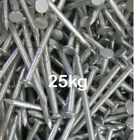 25kg GALVANISED ROUND WIRE NAILS 25KG BOX 65mm 75mm 100mm 125mm SPECIAL OFFER