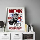 Britons Your Country Needs You Join Propaganda - A3 A4 - FREE Shipping - RRA
