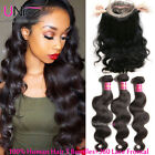 360 Lace Frontal With 3 Bundles 300G UNice 8A 100% Peruvian Human Hair Body Wave