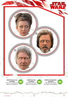 Star Wars Masken  Luke Skywalker, Han Solo, Princess Leia