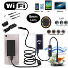 WiFi Endoscope Borescope Snake Inspection Camera 8 LED Lights 2.0 Megapixels HD