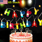 US Letter Shaped Happy Birthday LED String Light Christmas Party Shower Lights