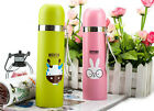 Stainless Steel Tea Water Coffee Flask Vacuum Thermos Cup Travel Bike Sports Mug