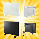 1000W 1500W 2000W Electric Convector Panel Glass Heater Radiator White/Black