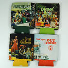 Coleman Throwback Coozie Collection Lot of 7 in 4 Retro Designs