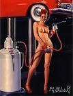 Greg Hildebrandt-Nude Lube, Photo Paper Print, Pinup Girl