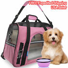 NEW Pet Carrier Soft Sided Small Cat Dog Comfort Travel Bag Airline Approved