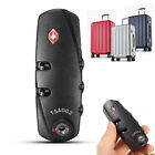 TSA 3 Digit Code Travel Luggage Bag Lock Combination Resettable Padlock Safes