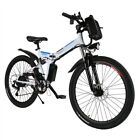 26 Folding Electric Mountain Bike Bicycle Ebike + W Lithium Battery 250W NEW