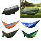 Double 2 Person Portable Parachute Nylon Fabric Hammock Hanging Bed Sleep Swing