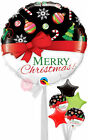 Merry Christmas Red Bow - Helium Inflated Christmas Balloon