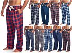 Ashford & Brooks Mens Soft Flannel Plaid Pajama Sleep Lounge Pants PJ's