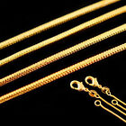 Wholesale Top Selling Women Men 1.2mm 1pc 18K Gold Filled snake Chain Necklace P