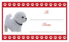 BICHON FRISE Dog Christmas Birthday Gift labels Sticker Dog Animal Pet Lover