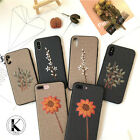 Luxury Fashion Retro Embroidery Flower Leather Case Cover For iPhone8 X 7Plus 6s
