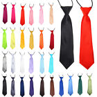 Kyпить Boys Kids Children Elasticated Tied Satin Neck Ties Wedding/Party Classic Tie на еВаy.соm