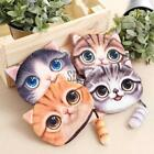 Women Cute Cat Face Pattern Zipper Coin Purse Card Wallet Pouch Bag with T