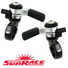Sun Race M96 Left Friction & Right 8 / 9 Speed Thumb Shifters