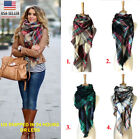 Ladies/Girls Warm Winter Scarf Plaid Scarves large Pashmina Cashmere Neckerchief